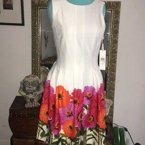 CK  sz 2 flower garden A line dress gorgeous!